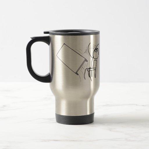 Table Flip Flipping Rage Face Meme 15 Oz Stainless Steel Travel Mug