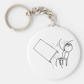 Table Flip Flipping Rage Face Meme Basic Round Button Keychain
