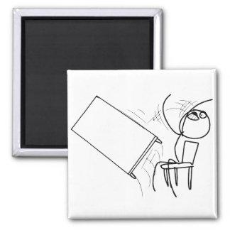 Table Flip Flipping Rage Face Meme Square Magnet