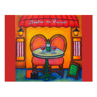Table for Two, Paris Bistro By Lisa Lorenz Postcard