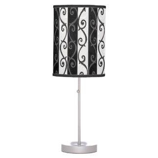 Table Lamp - Burtonesque Stripes and Swirls