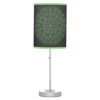 Table Lamp cerchio verde e nero