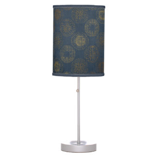 Table Lamp - Golden Compass on Navy