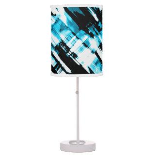 Table Lamp Hot Blue Black abstract digitalart G253