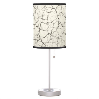 Table lamp in modern abstract crackle style