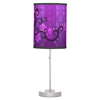 Table Lamp 'LEAVE' in Spring Plum