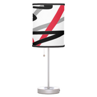 Table lamp - modern abstract red black white style