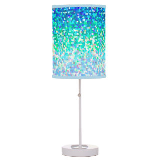 Table Lamp Mosaic Sparkley Texture