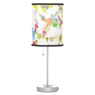 Table Lamp - playful jellyfish illustration