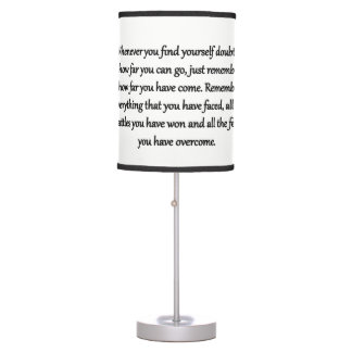 Table Lamp Remember How Far You Have Come