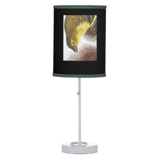 Table lamp showing the State Bird of Iowa