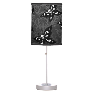 Table Lamp - Skullerflies in the Garden
