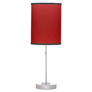 table lamp solid red color shade custom design