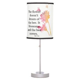 Table Lamp The Flower Doesn't Dream Of The Bee
