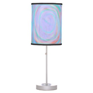 Table lamp with a Rainbow Swirl pattern