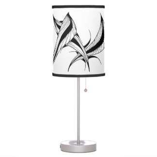Table lamp with black & white design