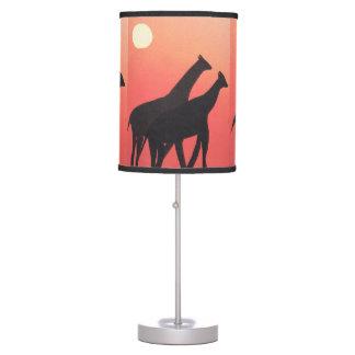 Table Lamp with Giraffe Design