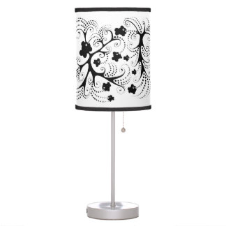 Table lamp with little black fishes