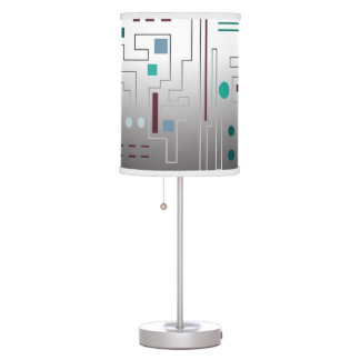 """Table Lamp with """"The Color of Traffic"""" Design"""