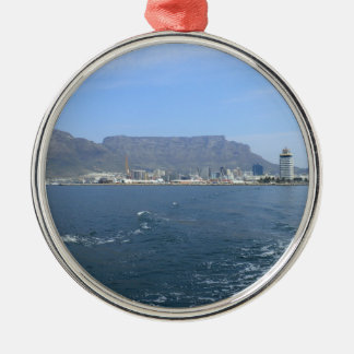 Table Mountain and Cape Town, ZA Metal Ornament