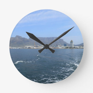 Table Mountain and Cape Town, ZA Wall Clock