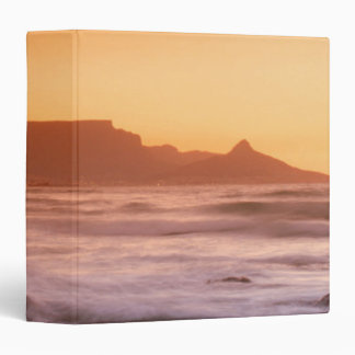 Table Mountain At Sunset, Bloubergstrand 3 Ring Binders