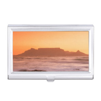 Table Mountain At Sunset, Bloubergstrand Case For Business Cards