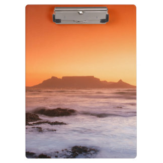 Table Mountain At Sunset, Bloubergstrand Clipboards