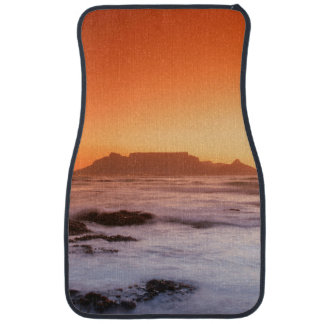 Table Mountain At Sunset, Bloubergstrand Floor Mat