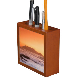 Table Mountain At Sunset, Bloubergstrand Pencil Holder