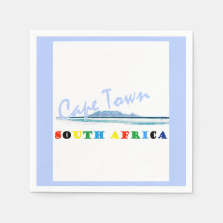 Table Mountain Cape Town Paper Napkin