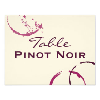 "Table Name Cards | Types of Wine Theme 4.25"" X 5.5"" Invitation Card"