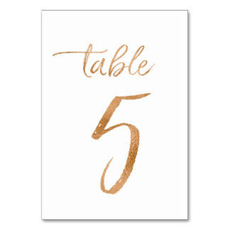 Table No. 5 Card