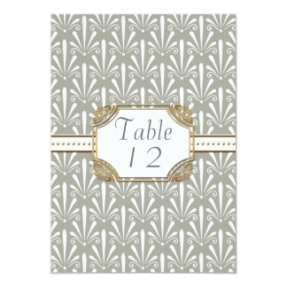 Table Number Art Deco Nouveau Modern Shell Pattern