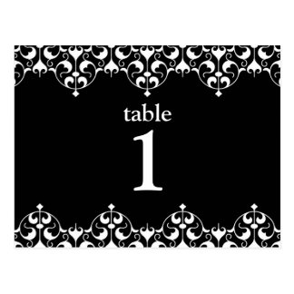 Table Number Card for KATE Collection Postcard