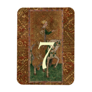 Table Number Lady Medieval Renaissance wedding Magnet