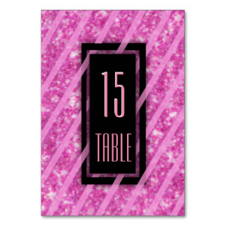 Table Number | Modern Pink Glitter