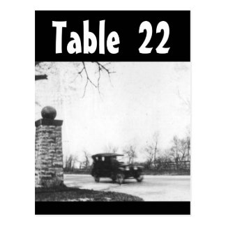 Table Number Roaring Twenties Wedding Receptions Postcard