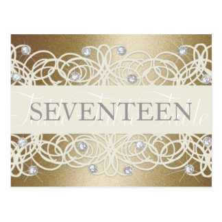 Table Number Shimmer and Crystals Postcard