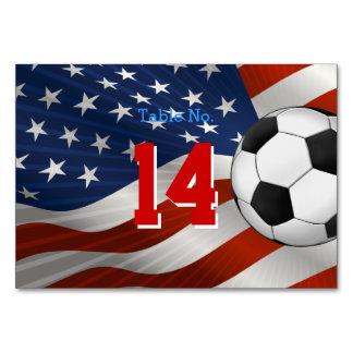 Table Number Soccer | USA Flag