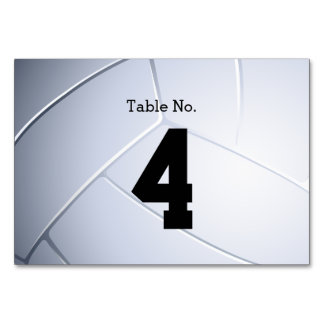 Table Number Volleyball