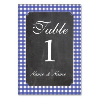 Table Numbers Wedding Chalk BBQ Rustic Blue
