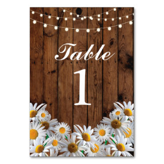 Table Numbers Wedding Daisy Cards Display