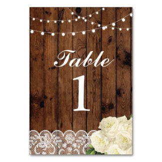 Table Numbers Wedding Lace Cards Display