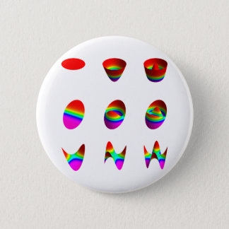 Table of lowest order Zernike polynomials 2 Inch Round Button