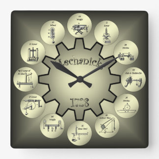"Table of Mechanicks ~ ""Yeah, Right ~ Now I Get It"" Wallclocks"