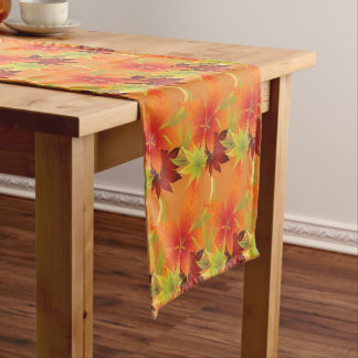 Table Runner-Autumn Leaves Short Table Runner