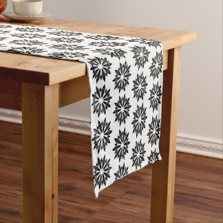 Table Runner-Black Floral Short Table Runner