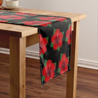 Table Runner-Red Hibiscus Short Table Runner
