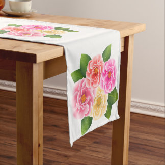 Table Runner-Roses Short Table Runner